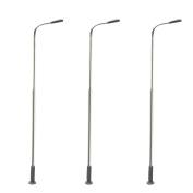 10pcs LED Stainless Steel Lamppost Model Street Lamp Model Railway Train Lamp Post HO OO Scale 1:75 Lamp 3V DC