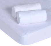 PMP Set 1 Undersheet / 2 Fitted Sheets Jersey White 60 x 120 cm