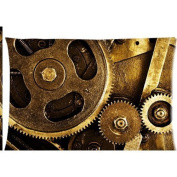 Gear steampunk picture Zippered Pillow Cases Cover 50cm x 80cm