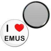 I Love Emus - 55mm Round Compact Mirror