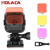 Holaca Diving Switchable Lens Filter Kit, incluing Red, Magenta and Yellow Filter Set For Gopro Hero 3+ Hero 4 HERO+ and HERO+ LCD camera Accessories & Hero 4 5 Session Camera