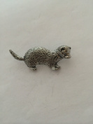A32 Ferret pin badge fine english pewter pin badge with a prideindetails gift package
