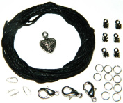 Make It With Beads Black Cord Necklace & Bracelet Jewellery Making Repair Kit