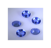 synthetic cubic zirconia Blue topaz cz loose gemstones 1 Pieces 8 x 8 mm Oval Blue faceted Gemstone