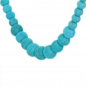 Yazilind Jewellery Amazing Full Various Green Round Rimous Turquoise Necklace Clothes for Women