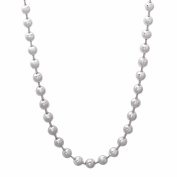 4mm Solid 925 Sterling Silver Pallini Style Bead Italian Crafted Chain + Microfiber Jewellery Polishing Cloth