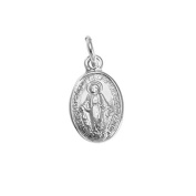 Sayers London Sterling Silver Miraculous Mary Medal
