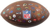 Wilson NFL Throwback 32 Team Logo American Football Official Ball