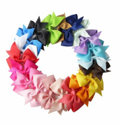 RzctukltdTM 20PCS Handmade Bow Hair Clip Alligator Clips Girls Ribbon Kids Sides Accessories