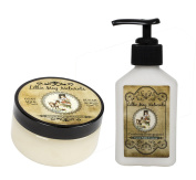 Lillie May Naturals Exfoliating Cranberry Pomegranate Goat Milk Body Scrub and Lotion Gift Set