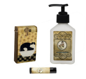 Lillie May Naturals Cat in Bath Cranberry Pomegranate Goat Milk Soap and Lotion with Lip Balm Gift Set