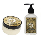Lillie May Naturals Exfoliating Cherry Almond Goat Milk Body Scrub and Lotion Gift Set