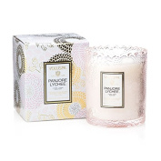 Voluspa Panjore Lychee Boxed Scalloped Edge Glass Candle Limited 180ml
