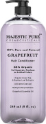Majestic Pure Hair Conditioner for Damaged Hair, Pink Grapefruit, 100% Natural, 85% Organic, 8 Fluid Ounce