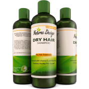 Conditioning Shampoo for Flaky Scalp for Men and women - Safe for Colour Treated Hair - Natural Shampoo Cleanser & Dry and Damaged Hair Treatment with Argan & Jojoba Oil by Natures Design 240ml