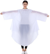 Salon Hair Cutting Gown, Barber Hairdressing Colouring Cape- White
