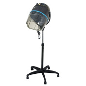 Professional Adjustable Hooded Floor Hair Bonnet Dryer Stand Up Rolling Base with Wheels Salon Equipment