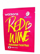 4 Mask Sheets of Watsons Antioxidant Facial Mask with Red Wine. Which Help Skin Rejuvenation, Leaving You with More Refined and Supple Looking Skin.