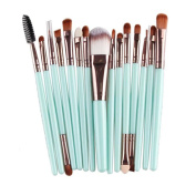 Lisingtool 15 pcs Wool Make Up Brush Set