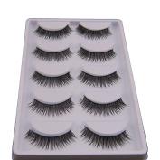 . 5 Pair False Eyelashes,Canserin Natural Look Voluminous Extension Makeup