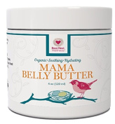 BEST Nest Mama Belly Butter, Natural Organic Stretch Mark Cream for Pregnancy & Beyond, Helps Removal and Reduces Risk of Stretch Marks (Striae) in Pregnant Women, 120ml