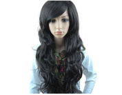 Mermaid High Quality Curly Wig Wavy Long Hair Hairpiece with Free Wigs Cap for Women and Girls