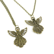 2 Pieces Antique Bronze Fashion Jewellery Making Charms Necklace Costume Sweater Long Chain Pendant XL-GT01012 Fairy Angel