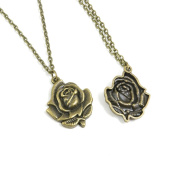 1 Pieces Antique Bronze Fashion Jewellery Making Charms Necklace Costume Sweater Long Chain Pendant XL-GT00501 Flower Rose