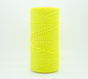 NEON YELLOW 1.5mm Waxed Polyester Twisted Cord Macrame Bracelet Thread Artisan String