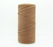 TAN 1.5mm Waxed Polyester Twisted Cord Macrame Bracelet Thread Artisan String