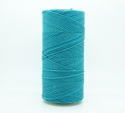 TURQUOISE 1.5mm Waxed Polyester Twisted Cord Macrame Bracelet Thread Artisan String