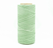 PASTEL GREEN 1mm Waxed Polyester Twisted Cord Macrame Bracelet Thread Artisan String