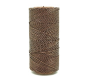 NATURAL BROWN 1mm Waxed Polyester Twisted Cord Macrame Bracelet Thread Artisan String