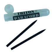 Triton Paracord Fid, Lacing, Stitching Needles -2 Black Stainless Steel Fids with Plastic Storage Case - For 550 Paracord or Leather - 3.5 in (9 cm) long with a dia. of 5 mm and a Screw Threaded Shaft