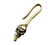 Brass Skull Hook Clasp For Bier Wallet chain /keychain