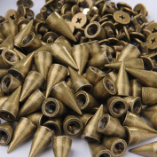 RUBYCA 500 Sets 14MM Bronze Colour Bullet Cone Spike and Stud Metal Screw Back for DIY Leather-craft