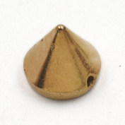 """Fujiyuan 100 Sets Plastic Sewing Spike Studs Rivets for Handbag Belt Bracelet 10mm 3/8"""" Gold"""