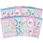 Hunkydory Faberdashery Card Embroidery Topper Set Card Making Supplies