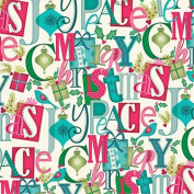 Peace, Love, Joy Gift Wrap Flat Sheet 60cm X 1.8m - Gift Wrapping Paper