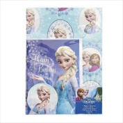Disney Frozen Wrapping Paper x1 with Birthday Card x1 and Gift Tagx1