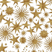 GOLD & COPPER STARS Christmas Holiday Gift Wrap Paper - 4.6m Roll