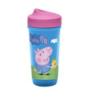 Zak Designs Toddlerific Perfect Flo Toddler Cup with Peppa Pig Graphics, Double Wall Insulated Construction and Adjustable Flow Technology