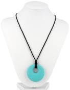 Nuby Teething Trends Round Beads Necklace, Aqua