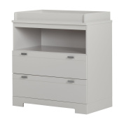 South Shore Reevo Changing Table with Storage, Soft Grey