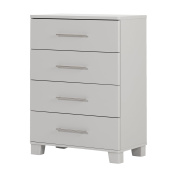 South Shore Cuddly 4-Drawer Chest, Soft Grey