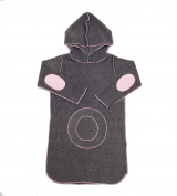 Hej Kid's Asha Hoodie Dress, Grey Pink, 4-5 months