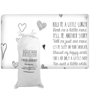 """""""Little Baby"""" Quote Fitted Crib Sheet by Ocean Drop Designs - Soft Jersey Sheet with Original Designs for Baby Shower or Christening Gifts - 100% Cotton, Machine Washable"""