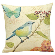 Pillow Cases,Dirance(TM) Home Decor Painting Birds Printing Dyeing Square Throw Sofa Bed Decoration Cushion Cover