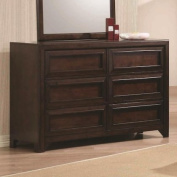 Coaster Greenough 400823 130cm Dresser with Six Full Extension Glide Drawers in Maple Oak
