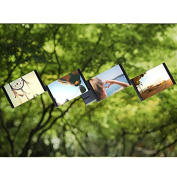 4PCS 10cm x 15cm Modern Style Acrylic Picture Frame Photo Frame Poster Frame Back With Leather Design-Black